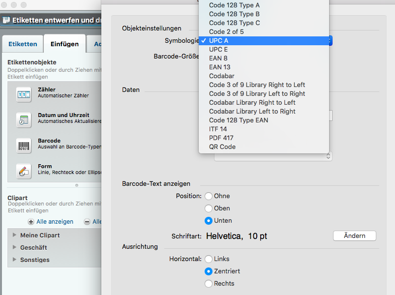 Ninox Datenbank - Thread / Barcode Generator einbauen