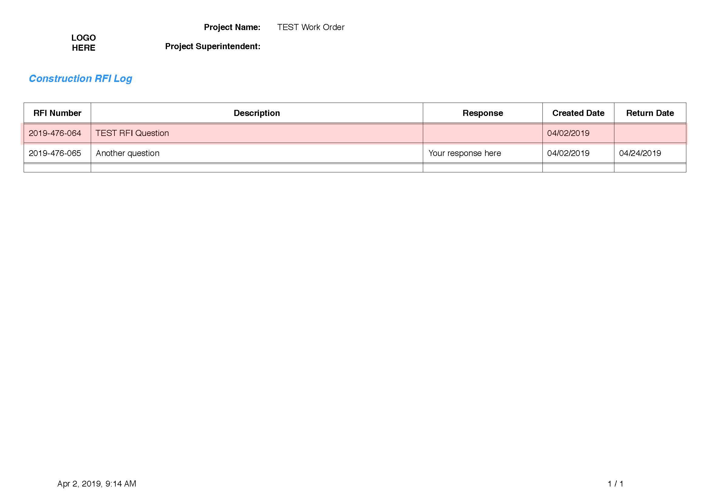 Ninox Database - Thread / Report Style